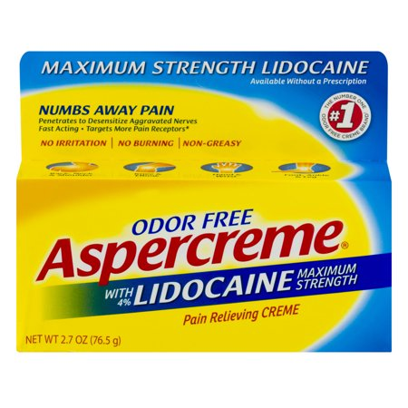 Aspercreme With Lidocaine Maximum Strength Pain Relieving Creme  2 7 Oz