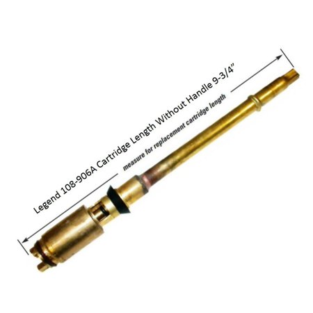 """Legend 108-906A 9-3/4"""" Replacement Cartridge Fits Improved Flow 6"""" Frost Free T-550A Sillcock"""