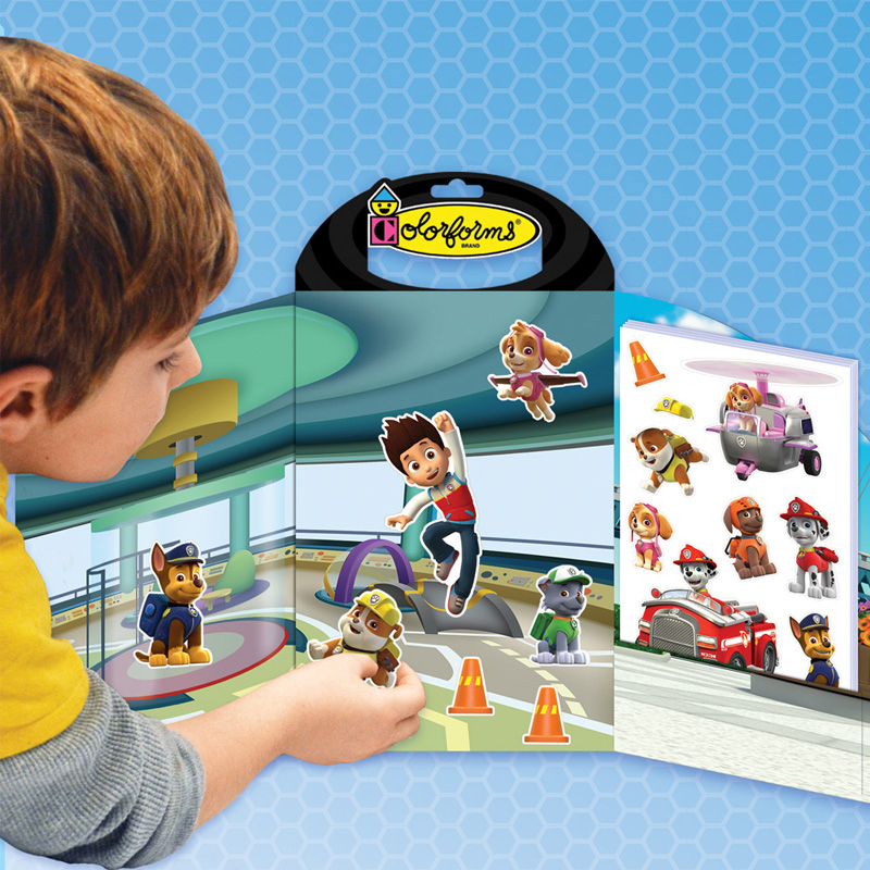 Colorforms Take Along Re-Stickable Sticker Set, Paw Patrol