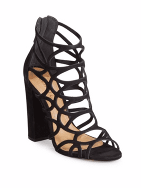 a70d77e24 Product Image SCHUTZ Ingriditte Black Nubuck Leather Caged Single Sole  Thick Heel Sandals (5.5)