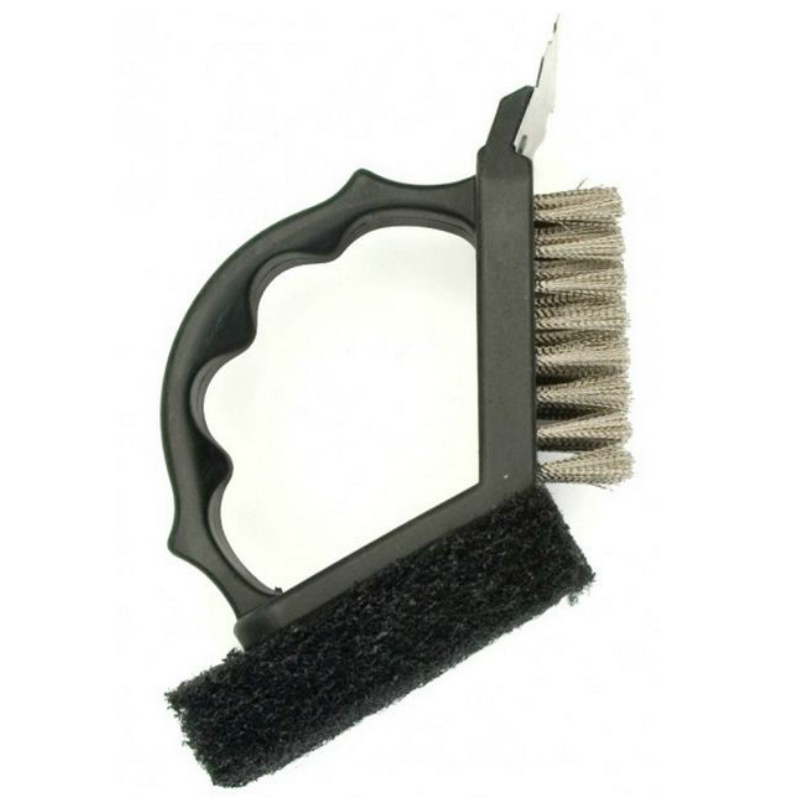 Charcoal Companion CC4062 2 In 1 Grill Brush, Black