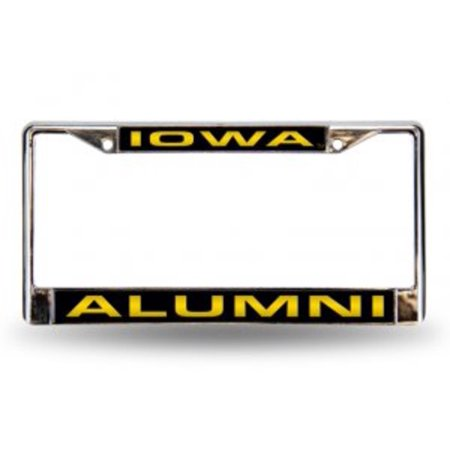 - Iowa Hawkeyes Alumni Laser Chrome License Frame.  Free Screw Caps Included
