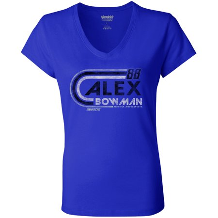 - Alex Bowman Hendrick Motorsports Team Collection Women's Retro V-Neck T-Shirt - Royal