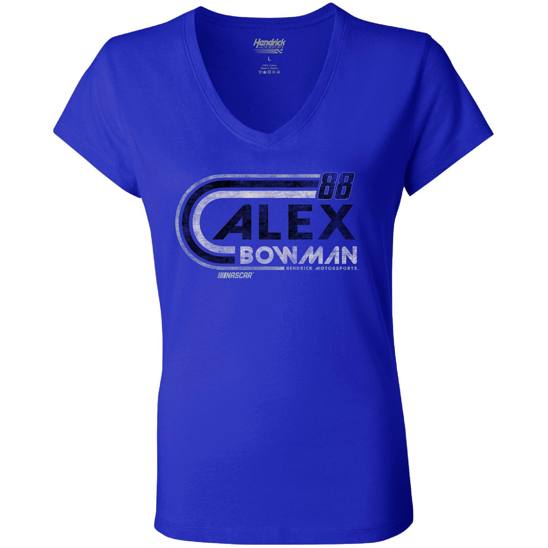 Alex Bowman Hendrick Motorsports Team Collection Women's Retro V-Neck T-Shirt - Royal
