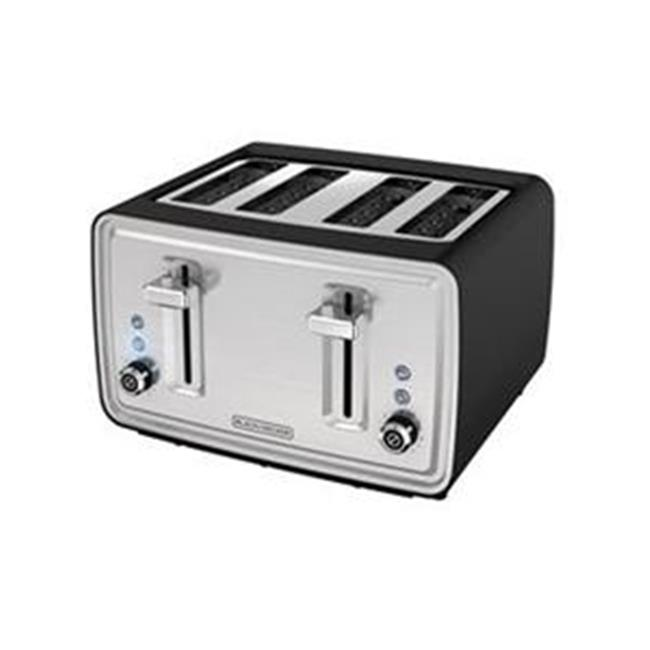 Black Decker 4-Slice Toaster, Silver - Stainless Steel
