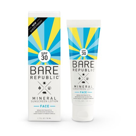 Bare Republic Mineral Face Sunscreen Lotion, SPF 30, 1.7