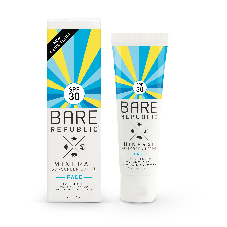 Bare Republic Mineral Face Sunscreen Lotion, SPF 30, 1.7 OZ
