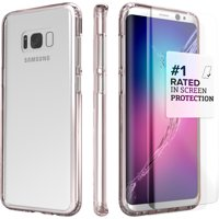 SaharaCase Galaxy S8 Plus Clear Case, Clear Protection Kit with ZeroDamage Tempered Glass -Rose Gold