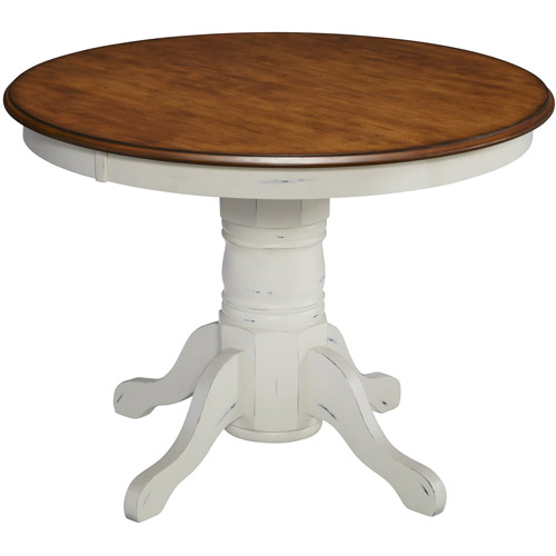 Home Styles French Countryside Oak Pedestal Table, Off White