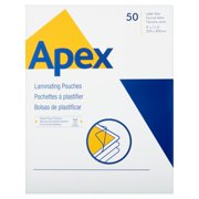 Apex Medium Laminating Pouches, Letter Size 5mm, 50 Per Pack