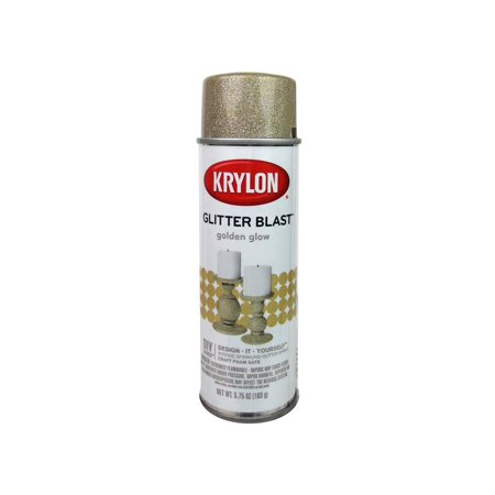 Krylon Glitter Blast Golden Glow Paint, 5.75 Oz. - Glow At Night Paint