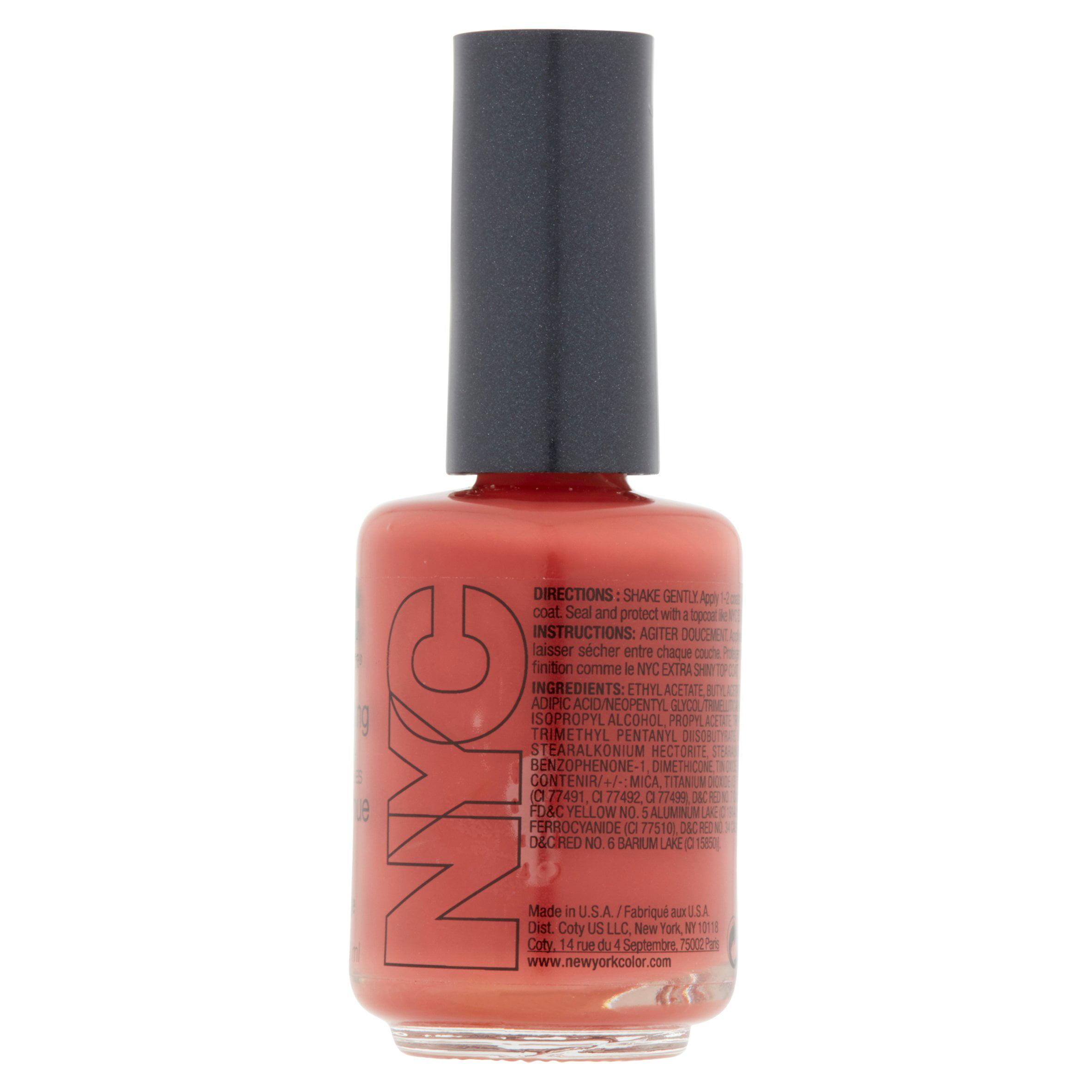 New York Color Long Wearing 161 Burnt Orange Nail Tenue, 0.45 fl oz ...