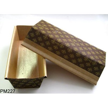 Large Leaf Pin - Rectangular Paper Loaf Pan Molds Large Size - 9''x2 7/8''x2.5'' - 25pcs By Pastry Chef's Boutique