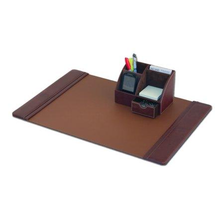 Mocha Leather 2-Piece Desk Set ()