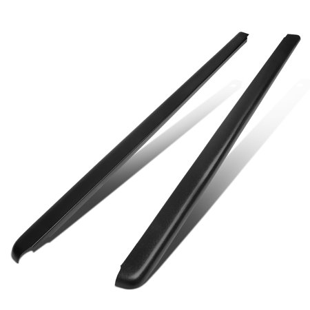 For 1988 to 2000 Chevy / GMC C / K 6.5Ft Bed Satin Black Bump Textured Rail Cap Left+Right