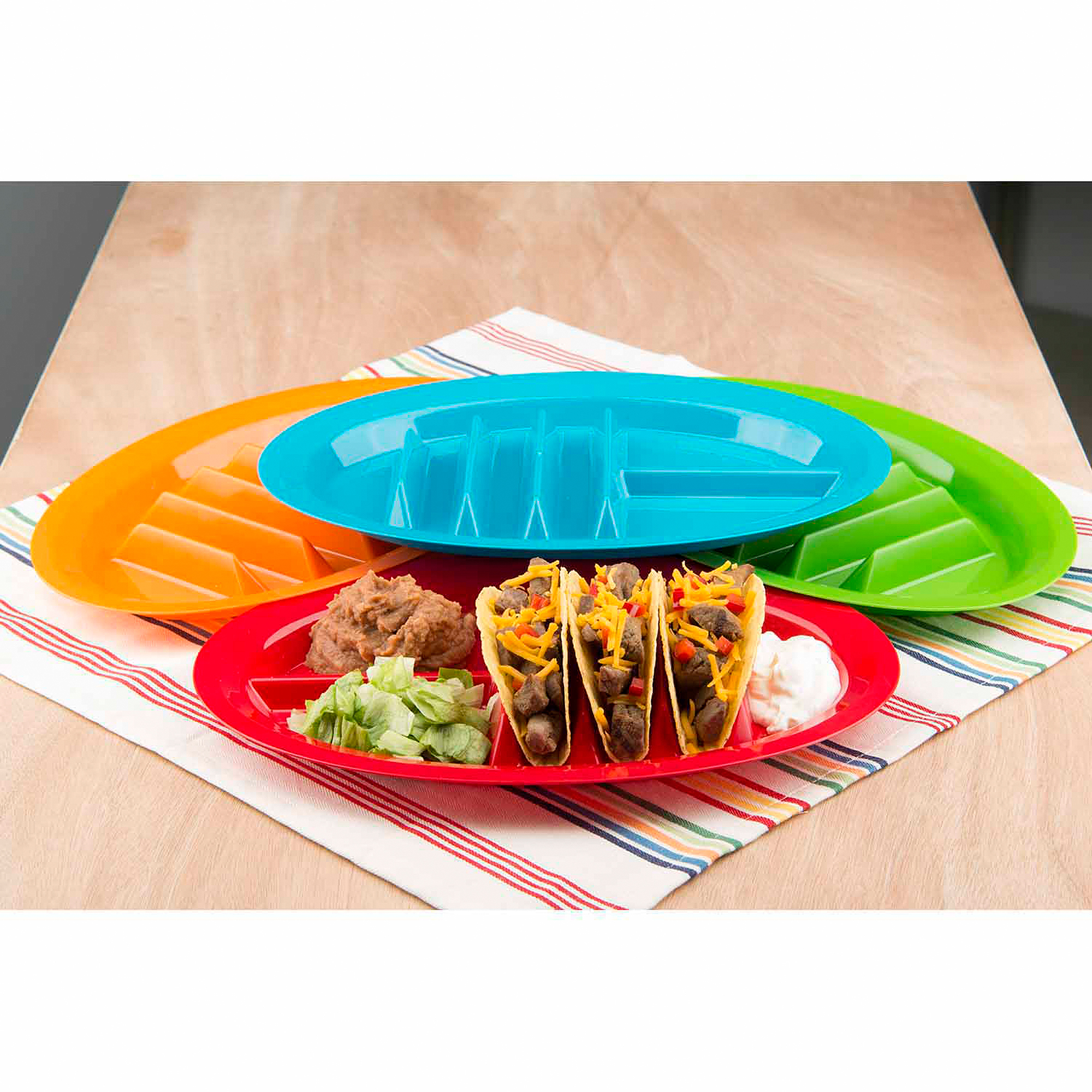 Jarratt Industries The Taco Plate, Fiesta, Set of 4