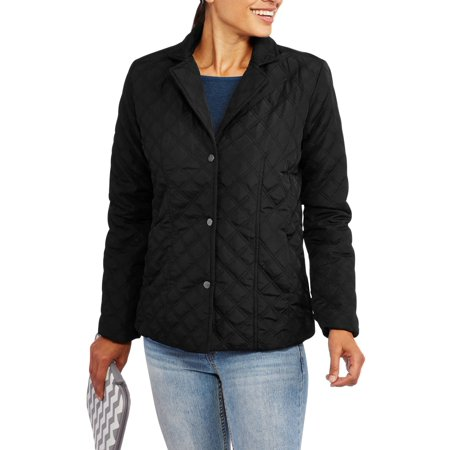 Womens Quilted Barn Jacket Walmart