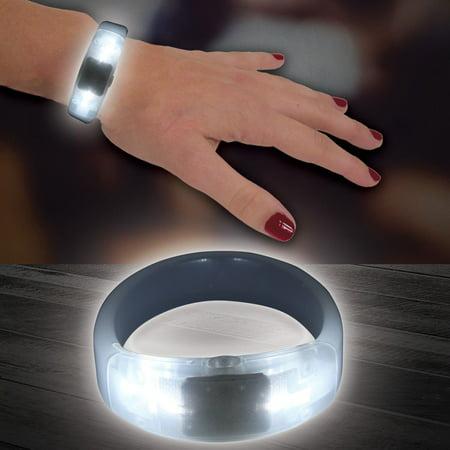 White LED and Light - Up Bangle Bracelet, Quantity-1 By Windy City Novelties