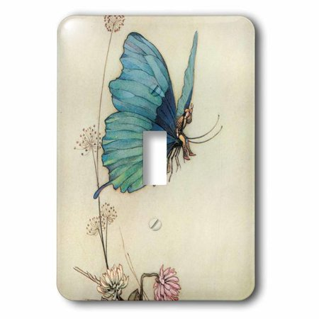 3dRose Fairy in the Garden - Vintage Art, Single Toggle Switch](The Vintage Fairy)
