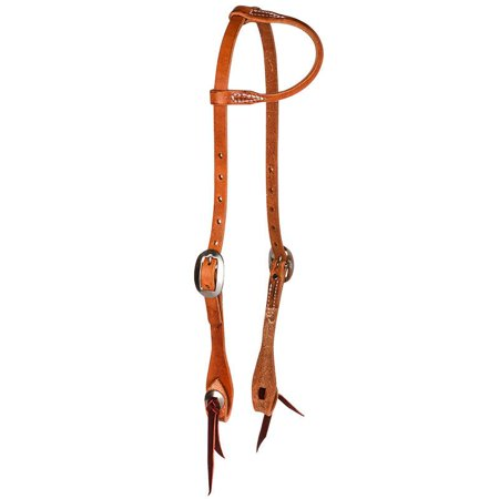 Nrs Sliding One Ear Headstall w/Tie Bit Ends and Conchos