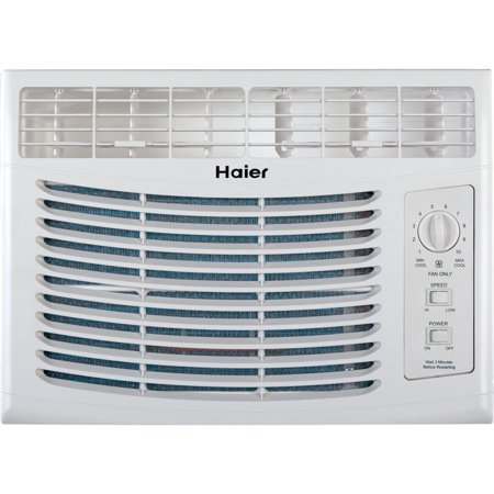 Haier HWF05XCL-L 5,000-BTU Compact Mini Room Window Air Conditioner on