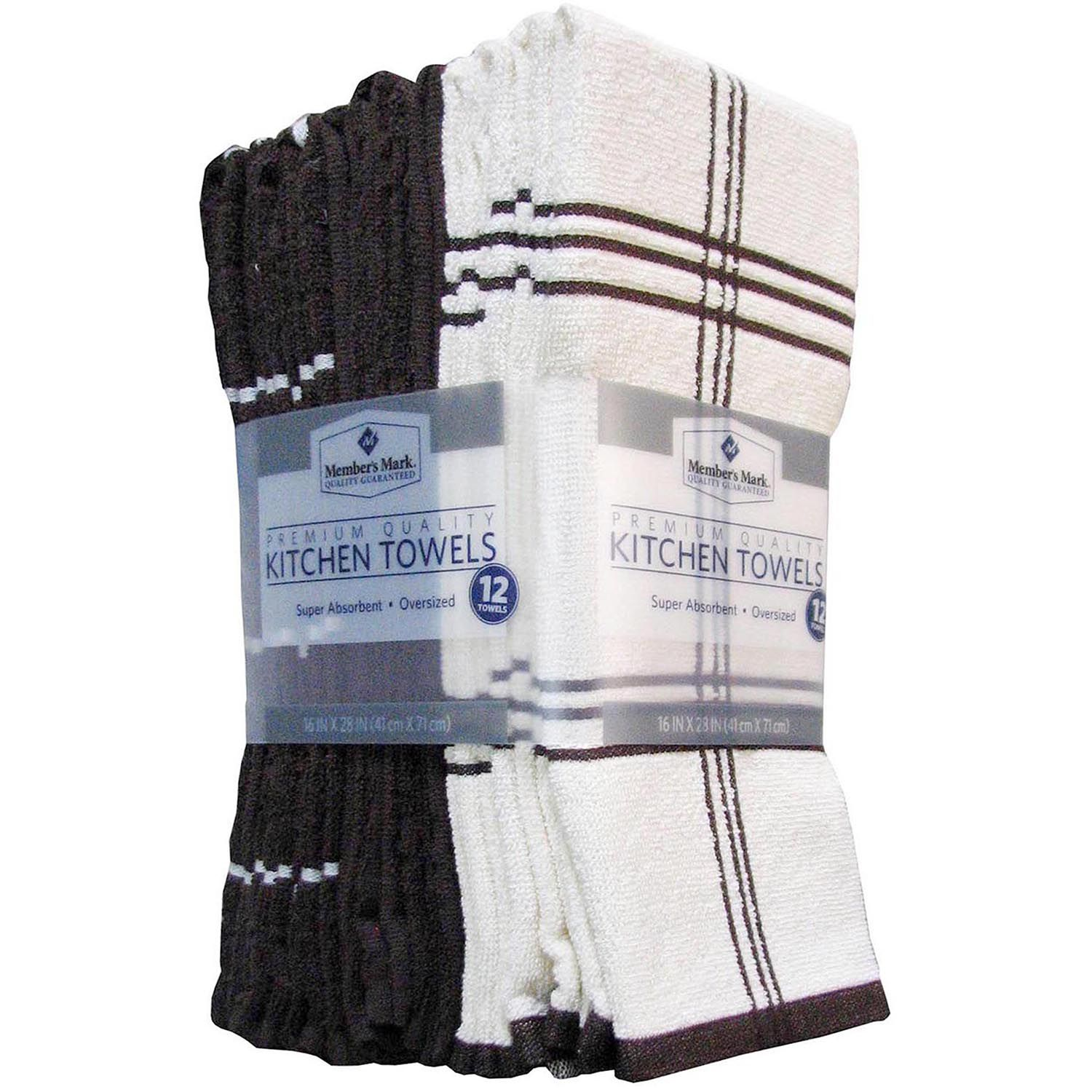 Member's Mark Kitchen Towels, 12-pack, Chocolate