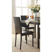 Declan Faux Leather Metal Chair, Set of 2, Dark Brown by Weston Home