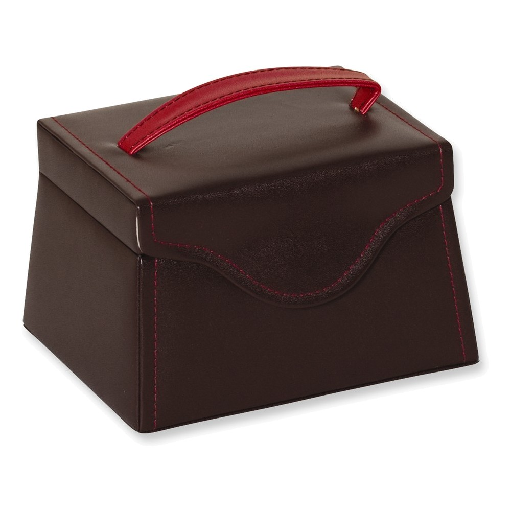 Burgundy with Red Stitching Jewelry Case