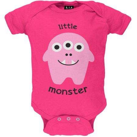 Halloween Little Monster 2 Pink Baby One Piece