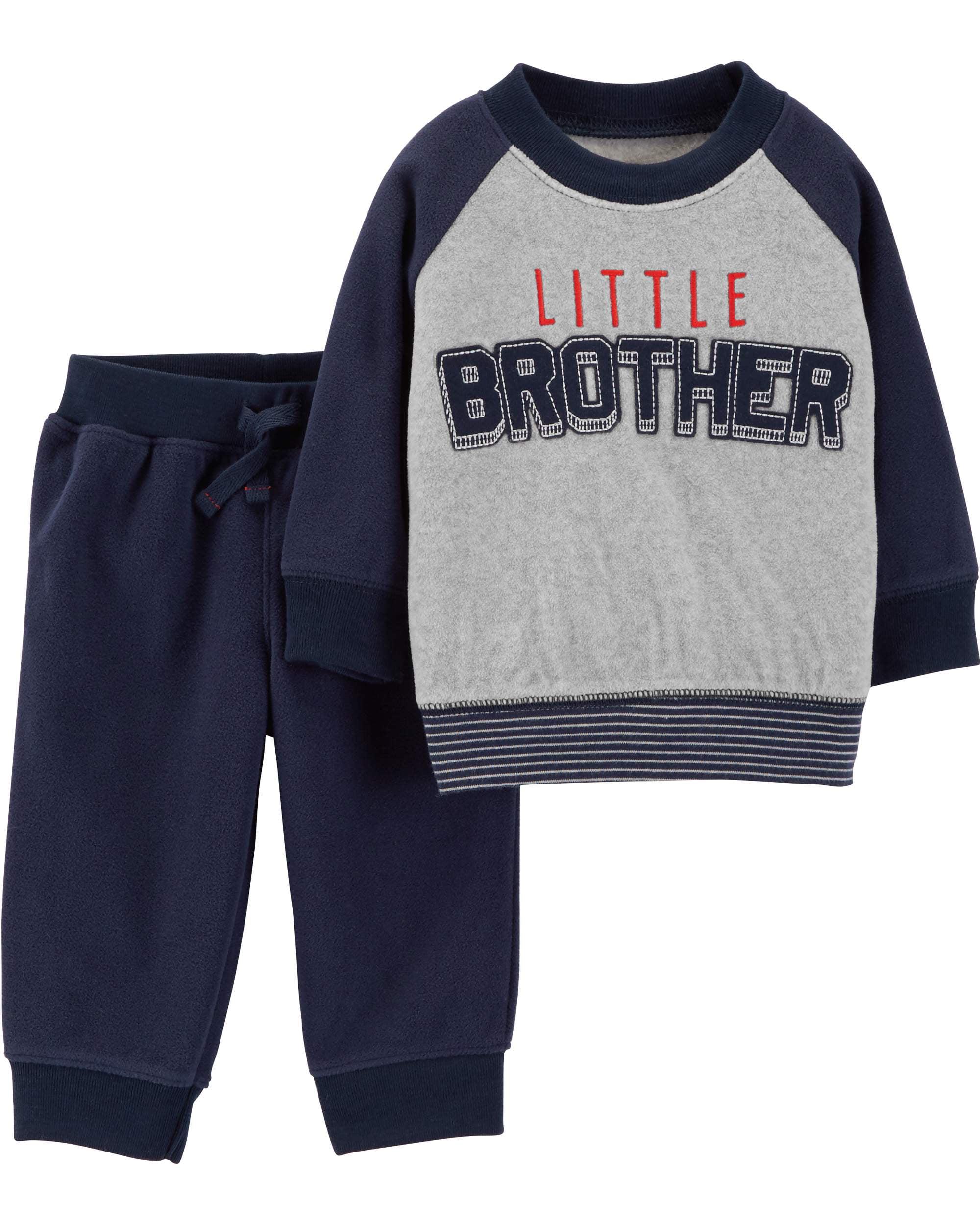 06b6f7df9 Long Sleeve Fleece Top & Jogger Pants, 2-Piece Outfit Set (Toddler Boys)