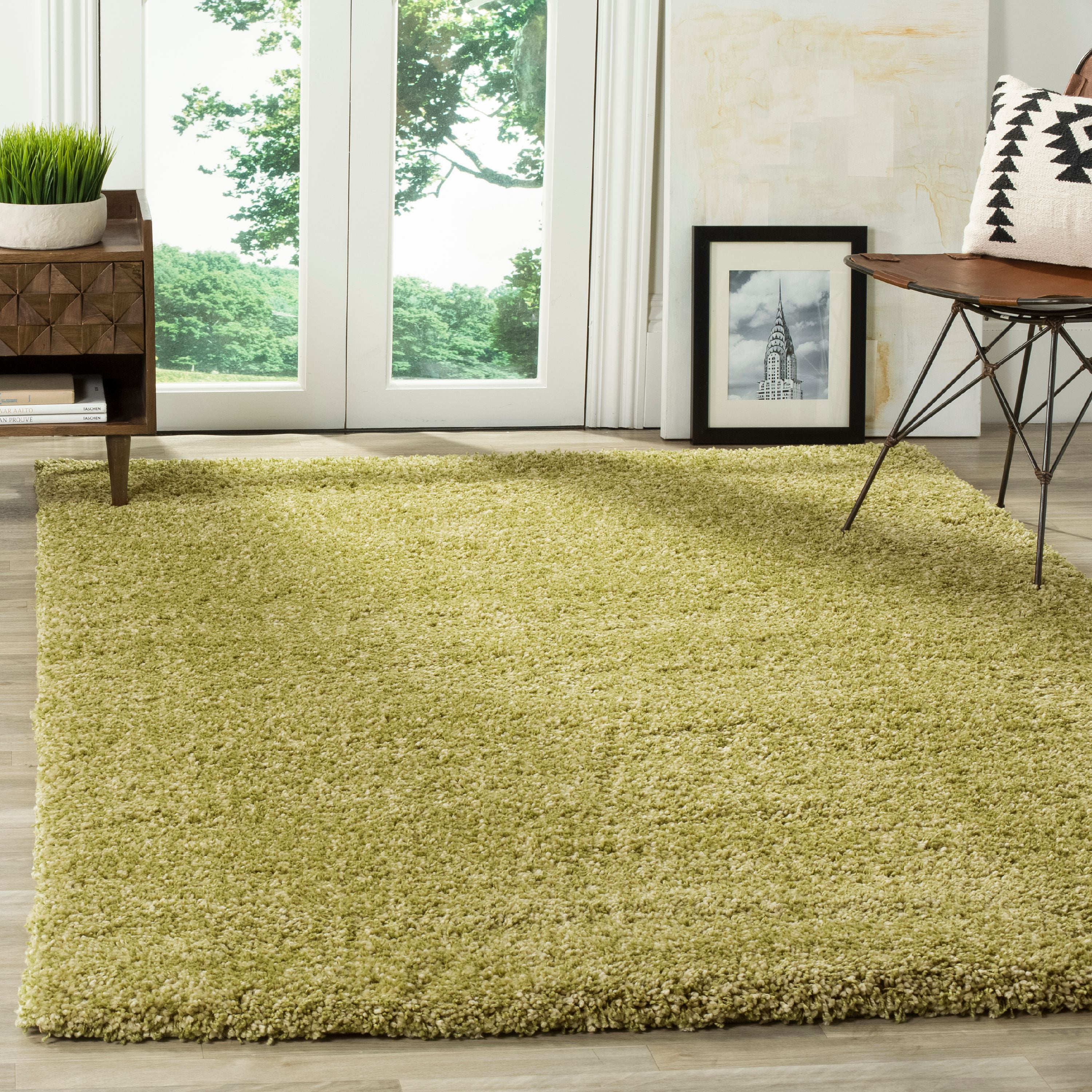 Safavieh California Solid Plush Shag Area Rug or Runner by Safavieh