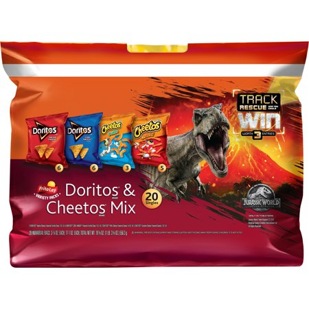 Frito-Lay Doritos & Cheetos Mix Variety Pack, 0.75 Oz - 1 Oz, 20 Ct
