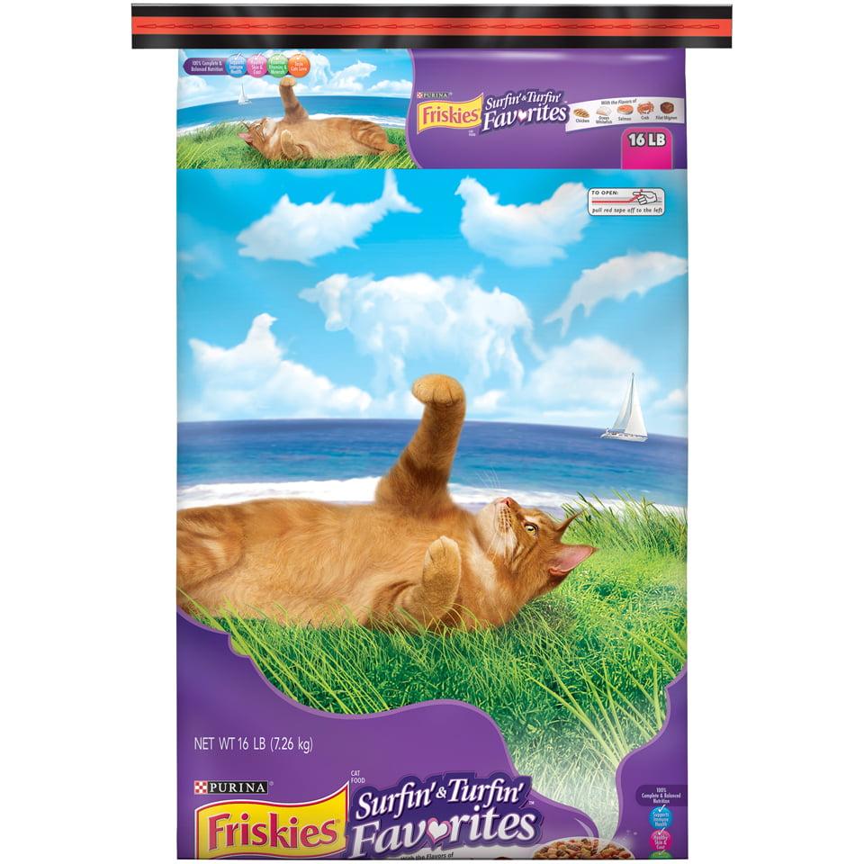 Purina Friskies Surfin' & Turfin' Favorites Adult Dry Cat Food - 16 lb. Bag