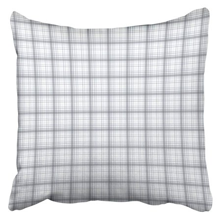 ARHOME Gray Plaid Elegant Checkered Pattern Colorful White Abstract Black Bright Checked Pillow Case Cushion Cover 18x18 inch ()