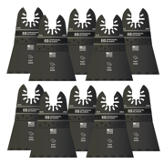 """Imperial Blades IBOA250-10 ONE FIT 2-1/2"""" Wood Oscillating Saw Blade, Multi-Tool Accessory, 10PK"""