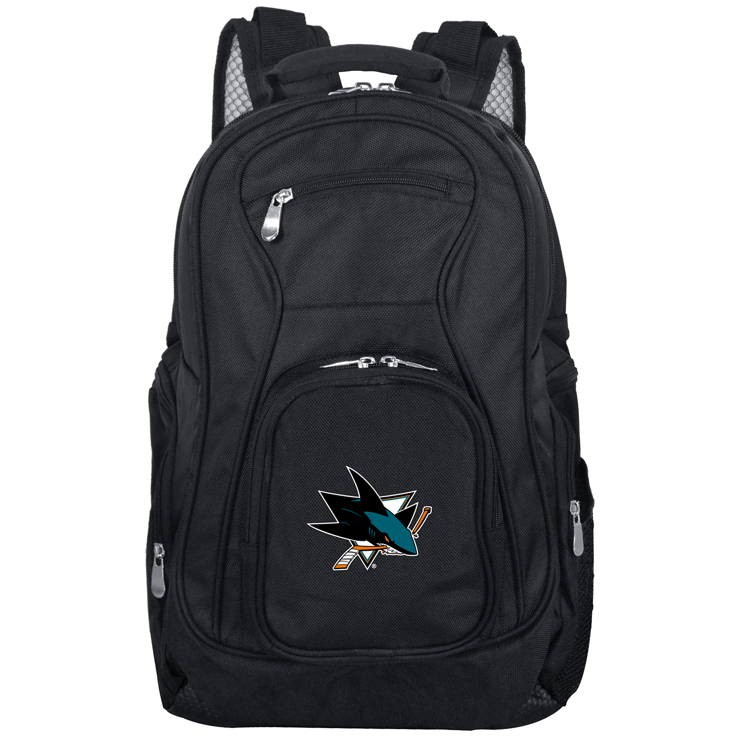 "San Jose Sharks 19"" Laptop Travel Backpack - Black - No Size"
