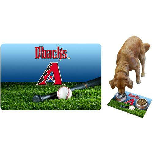 Arizona Diamondbacks Field & Bat Pet Bowl Mat - No Size