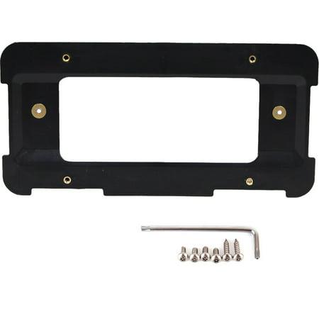 GTP Rear License Plate Mount Bracket Holder + 6 Anti-theft Screws & Wrench For BMW 1/2/3/4/5/6/M Series, X1 X3 X4 X5 X6 I3 Z4 MINI Cooper R52 R55 R56 F54 F56 OE Part # 51188238061 (Real License)
