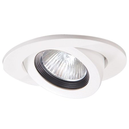 Halo 3 in. White Recessed Ceiling Light Trim with Adjustable Gimbal