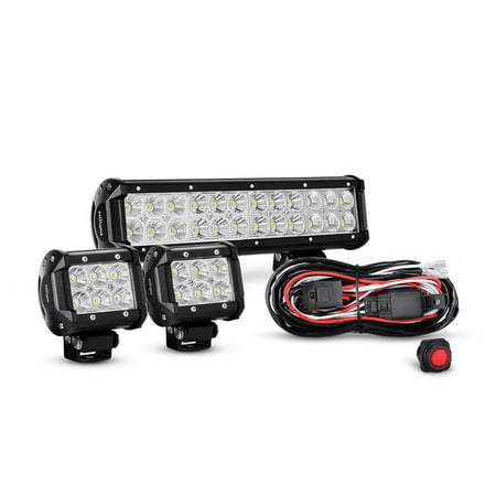 Nilight 12 inch 72w spot flood combo led light bar 2pcs 4 inch 18w nilight 12 inch 72w spot flood combo led light bar 2pcs 4 inch 18w flood led aloadofball