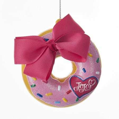 Kurt Adler JoJo Siwa© Donut With Bow Hanging Ornament