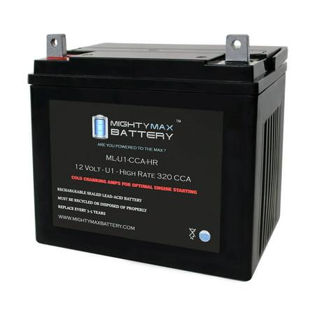 ML-U1-CCAHR 12V 320CCA Battery for Dixie Chopper XG 2503 Lawn Mower -  Mighty Max Battery, ML-U1-CCAHR138
