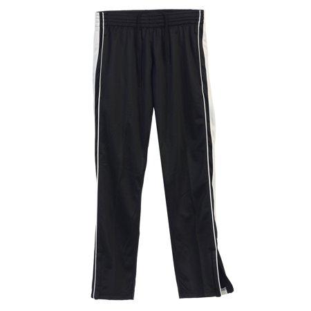Mens Track Athletic Pants, Elastic Waist, Zip Bottom (Athletic Pants)