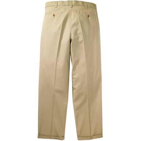George - Big Men's Wrinkle-Resistant Pleat-Front Khaki Pants