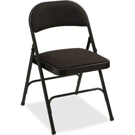 Lorell, Padded Seat Folding Chairs - 4/CT, 4 / Carton
