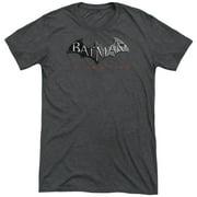 Arkham City Logo Mens Tri-Blend Short Sleeve Shirt