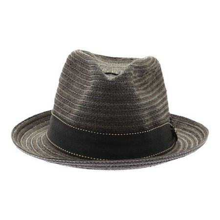 ba827a69432cfd scala - scala classico men's vent crown braided fedora hat black m -  Walmart.com
