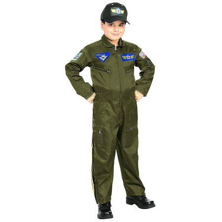 Rubies Young Heroes Air Force Fighter Pilot Child Costume, Toddler, One Color (Toddler Fighter Pilot Costume)