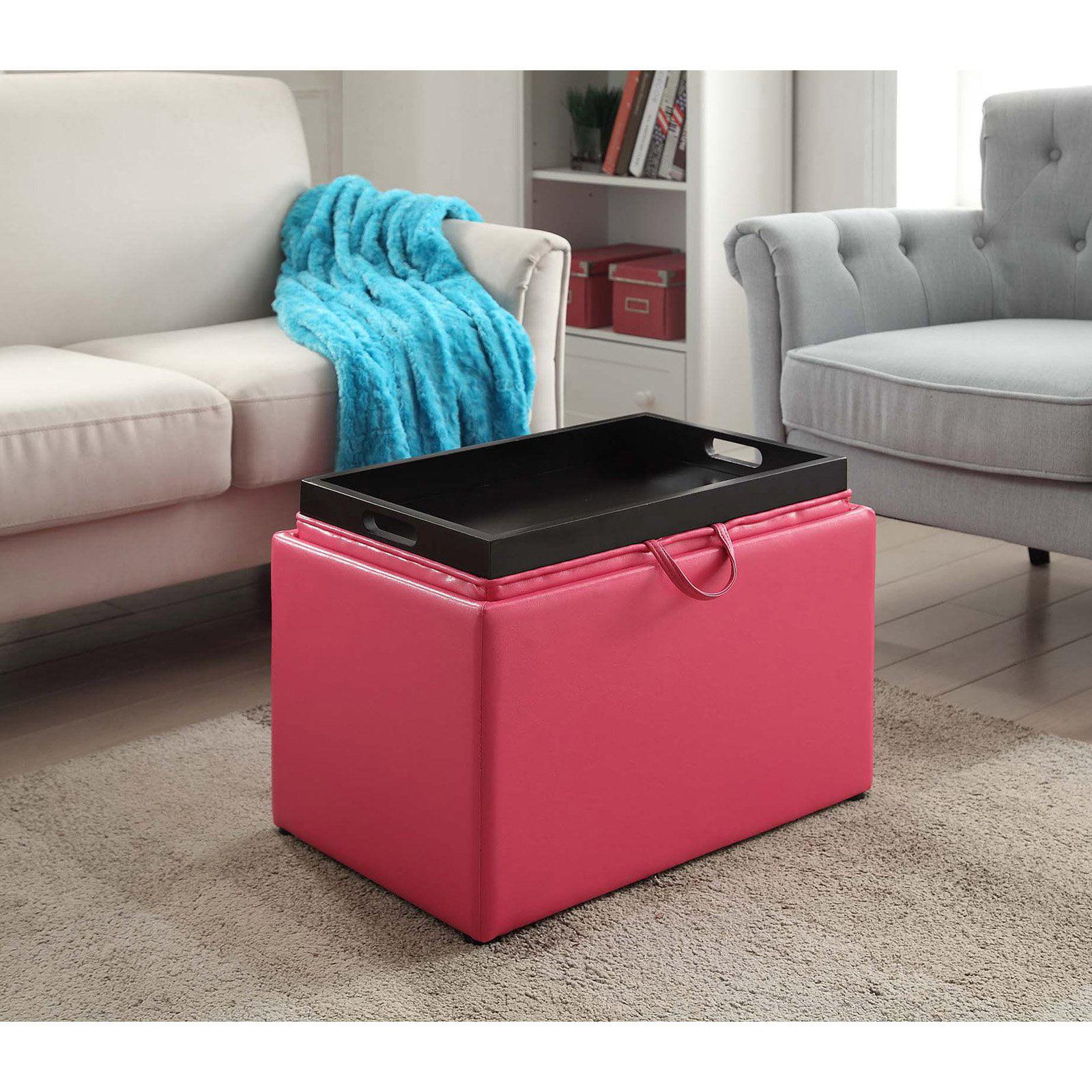 convenience concepts accent storage ottoman walmart com