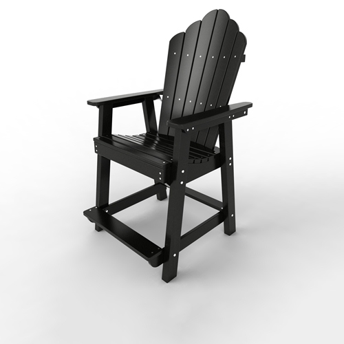 Counter Chair by Malibu Outdoor - Yarmouth, Black